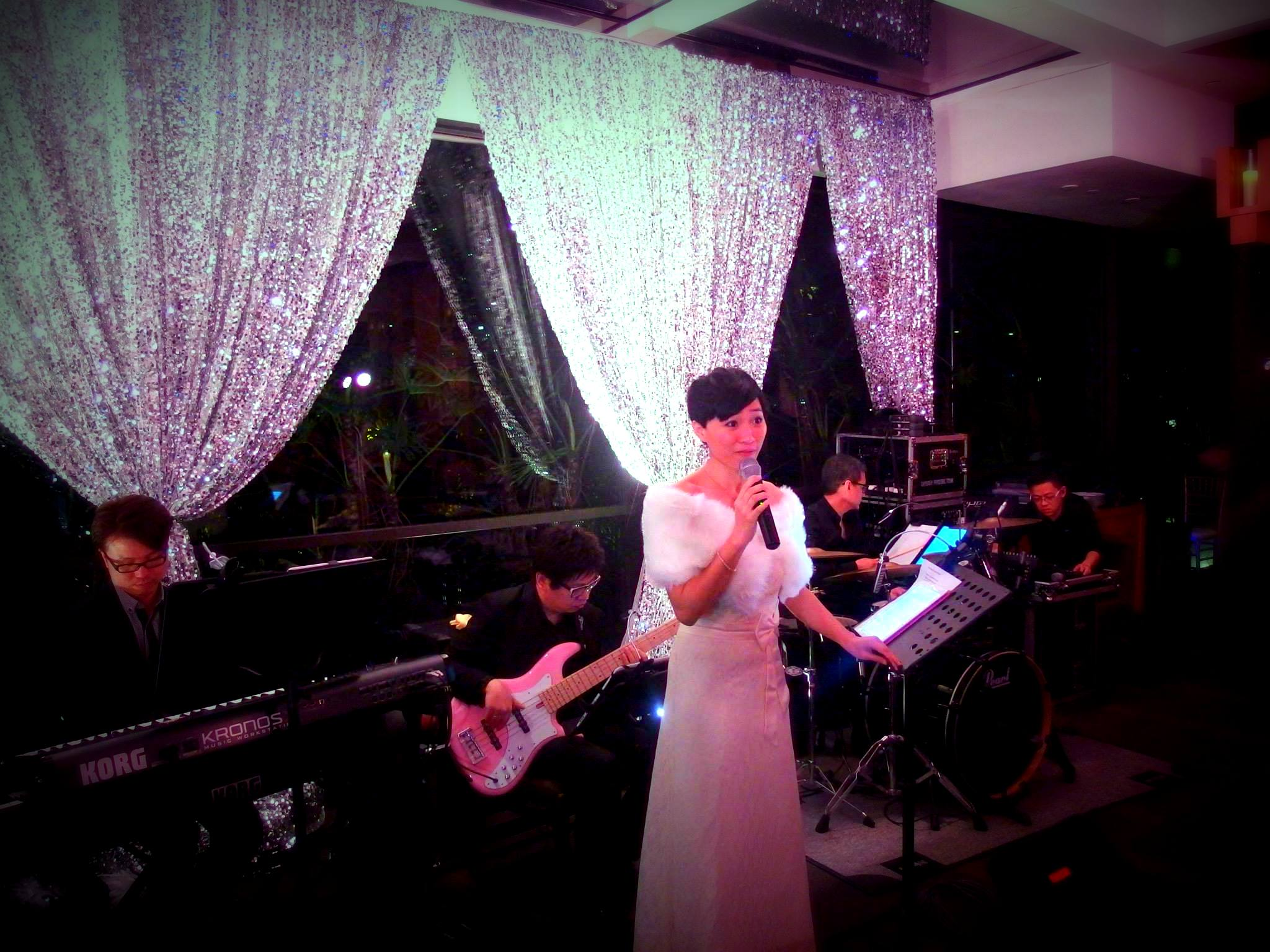 Unison Production Live Music band performance - birthday party at The Pool House at Grand Hyatt