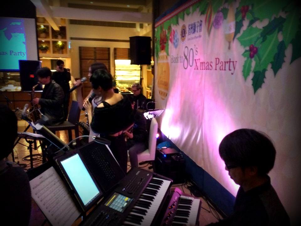 Unison Production Live Music band performance - Corporate Event 獅子會 Back to 80s X'mas Party