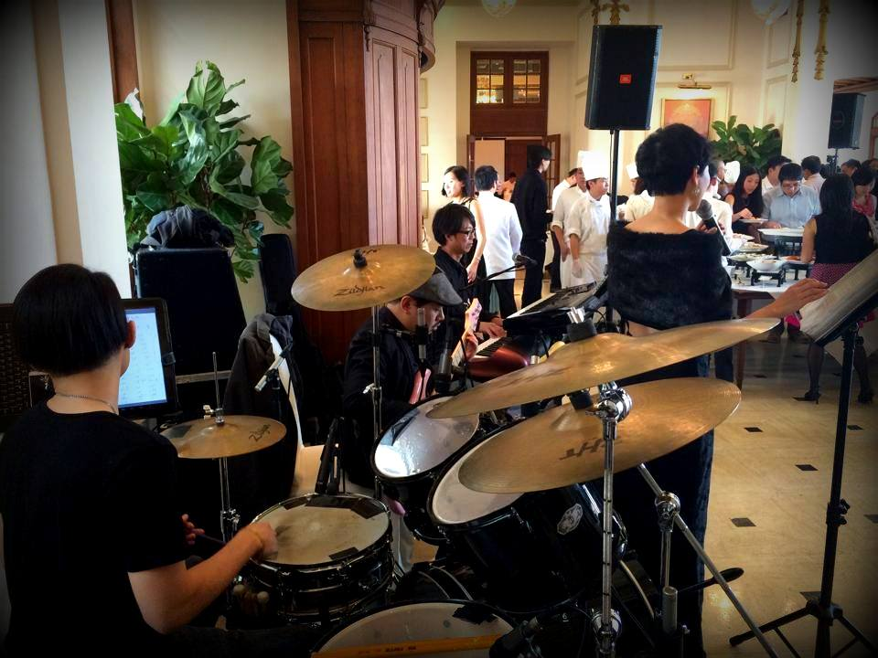 Unison Production Live Music band performance - Lunch reception at The Peninsula Hong Kong - Jan15