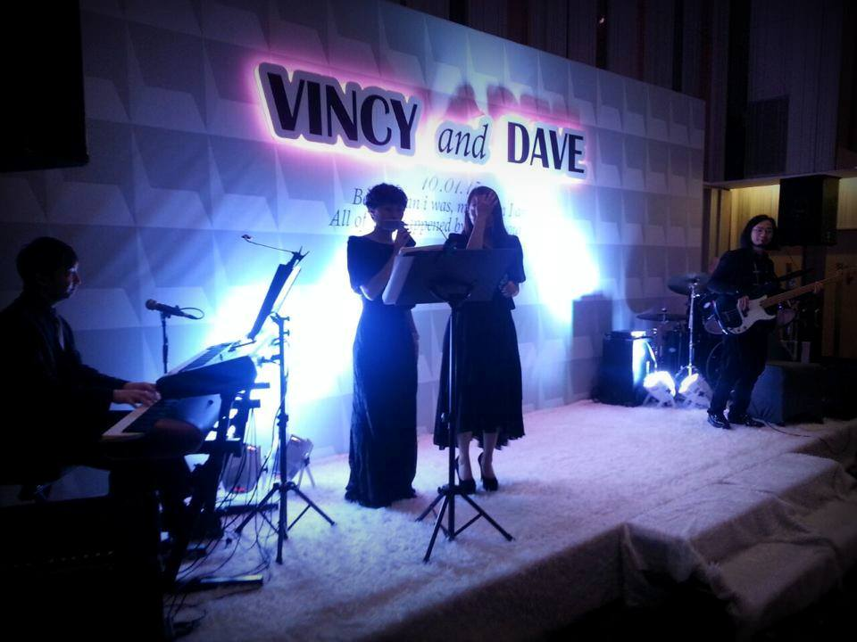 Unison Production Live Music band performance - Wedding Ceremony at W Hotel Jan15