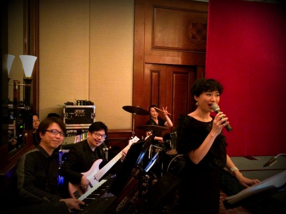 Unison Production Live Music band performance - Wedding Anniversary party in Island Shangri la Hotel