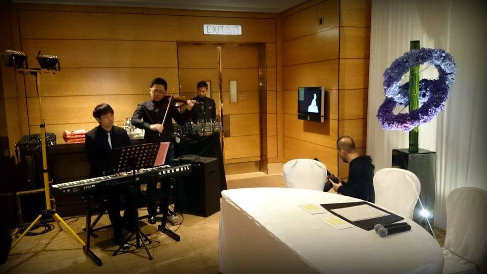 Unison Production Live Music band performance - Wedding Ceremony in Four Seasons Hotel Hong Kong - Jan15