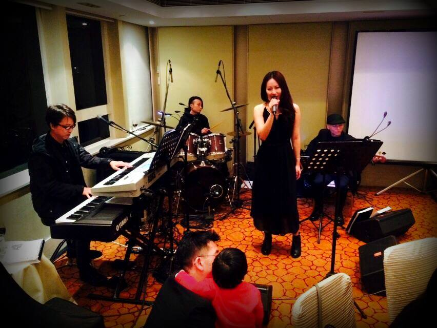Unison Production Live Music band performance - Singing performance with 3 Pieces Band Jan15