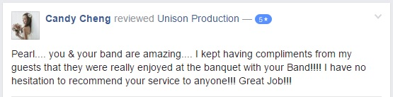 Unison Production - Testimonial (Candy Cheng)