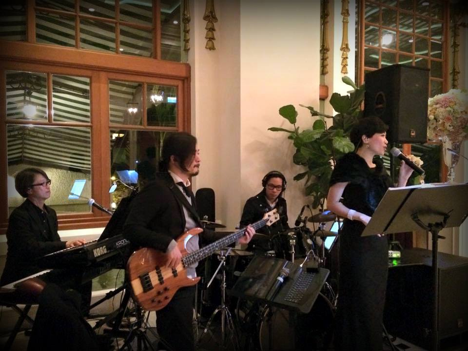 Unison Production Live Music band performance - Wedding in Verandah Apr15