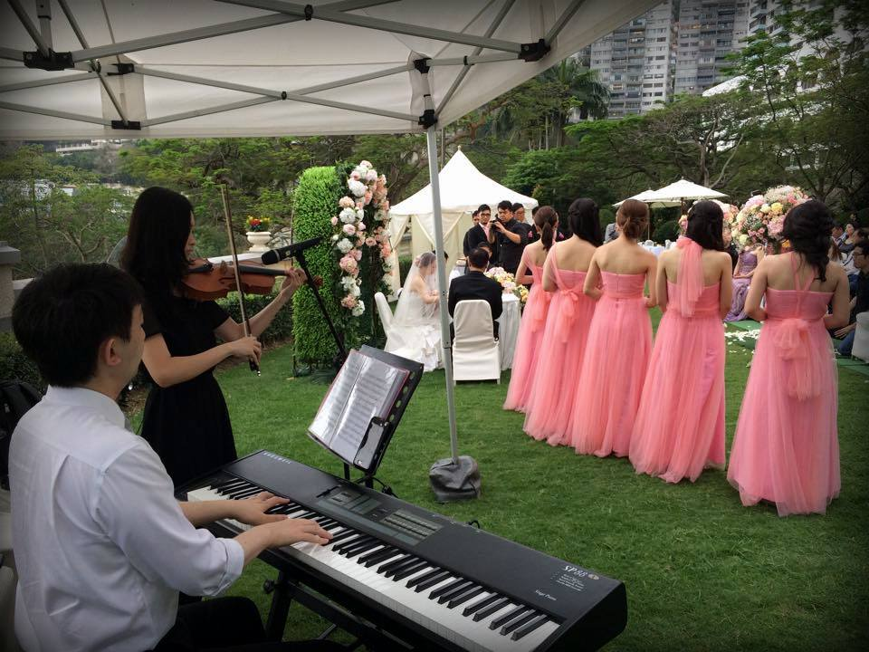Unison Production Live Music band performance – Wedding ceremony 3May15