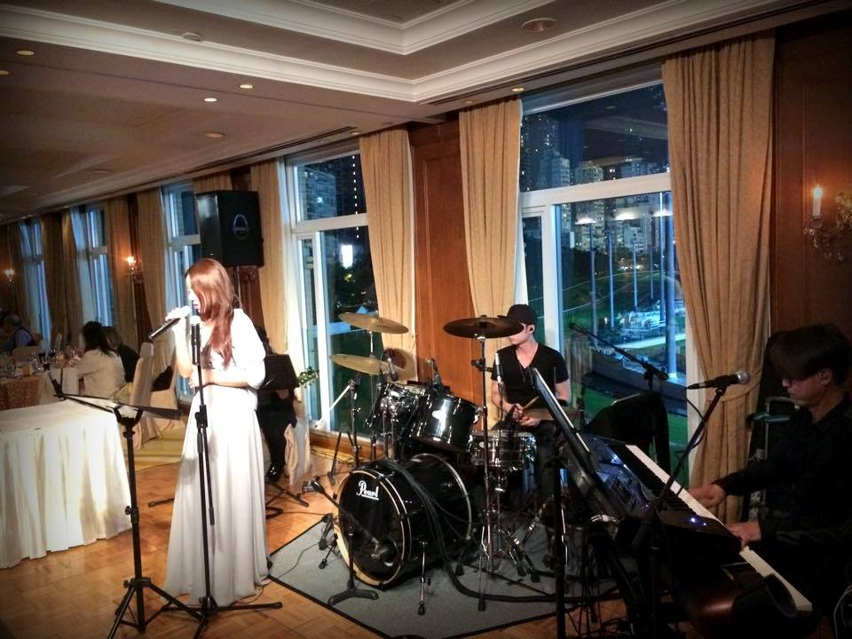 Unison Production Live Music band performance – 22 May ,2015 Wedding in HK football club