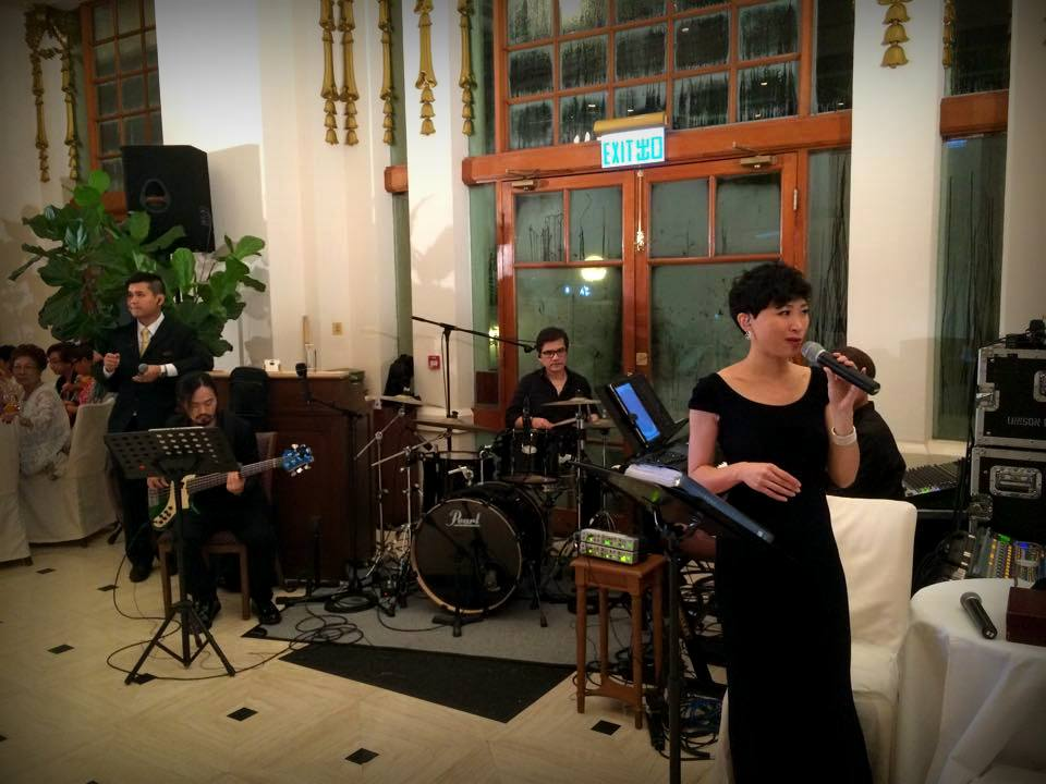 Unison Production Live Music band performance – Wedding ceremony at Verandah May15