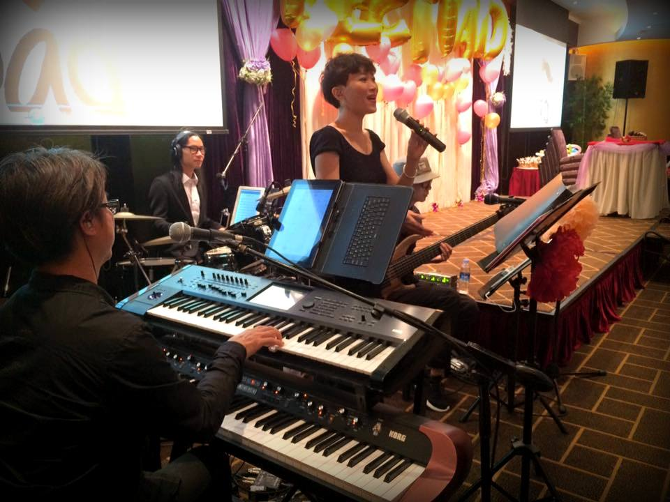 Unison Production Live Music band performance - Father's day dinner 21 Jun 15
