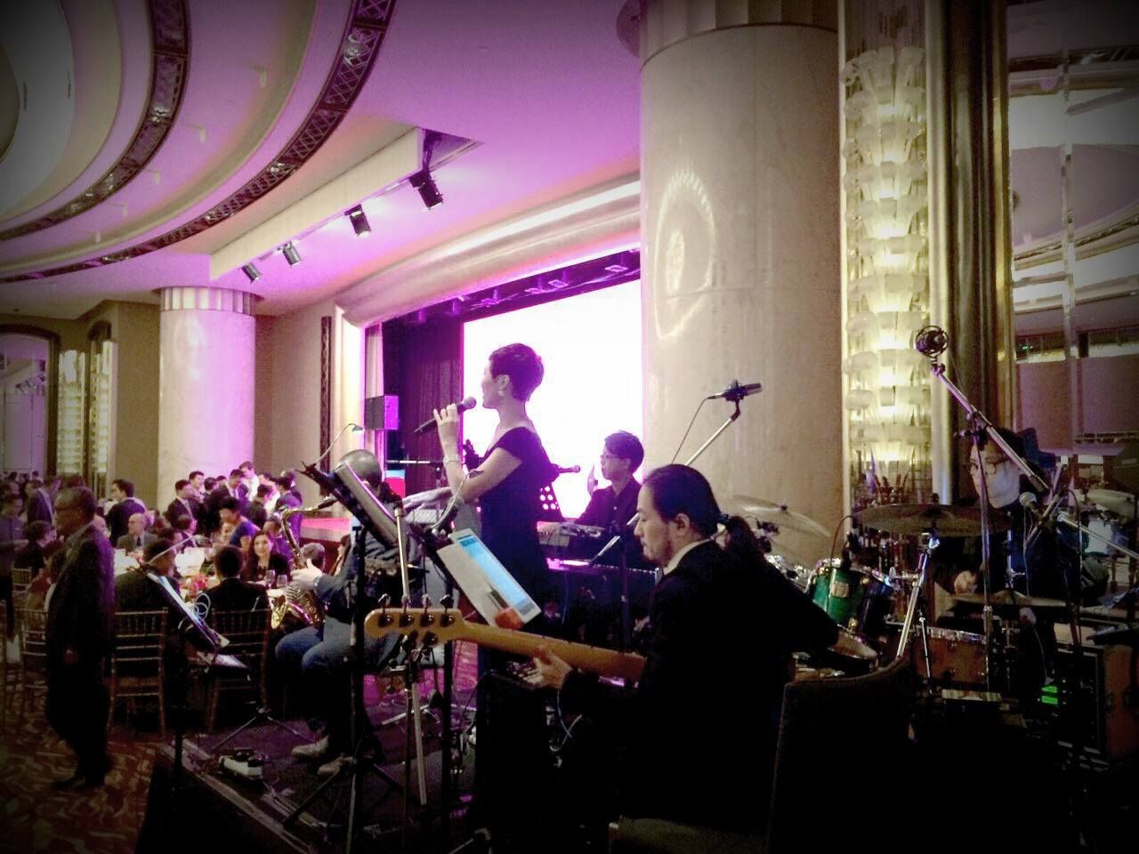 Unison Production Live Music band performance - Listing celebration dinner in Grand Hyatt
