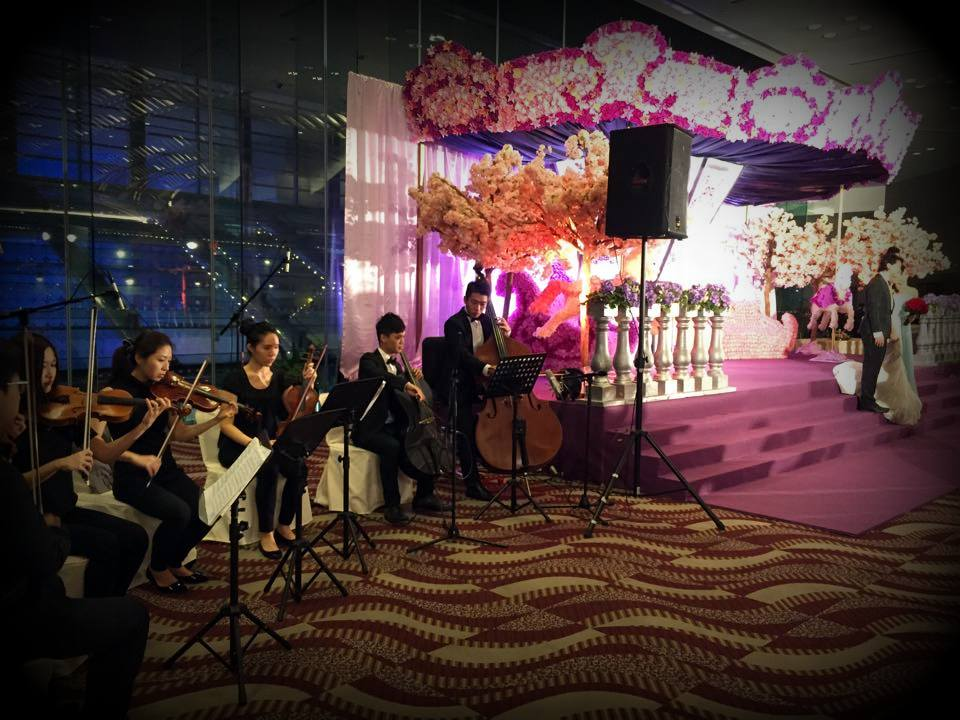 Unison Production Live Music band performance - wedding ceremony and cocktail in C Hall , HKCEC