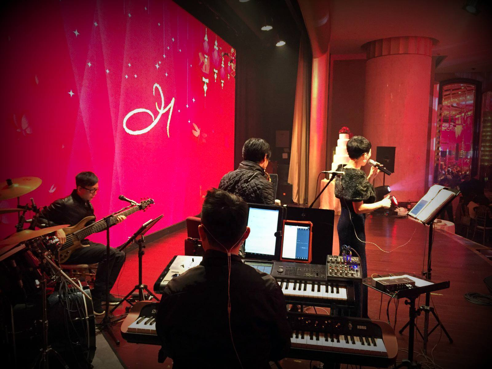 Unison Production Live Music band performance - Wedding ceremony and wedding banquet in Grand Hyatt Hotel, Jan2016