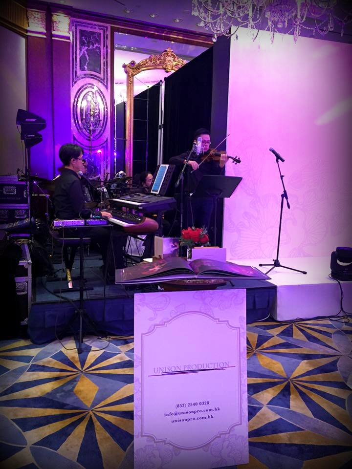 Unison Production Live Music band performance - Wedding Fair in Island Shangri la Hotel, Aug2016