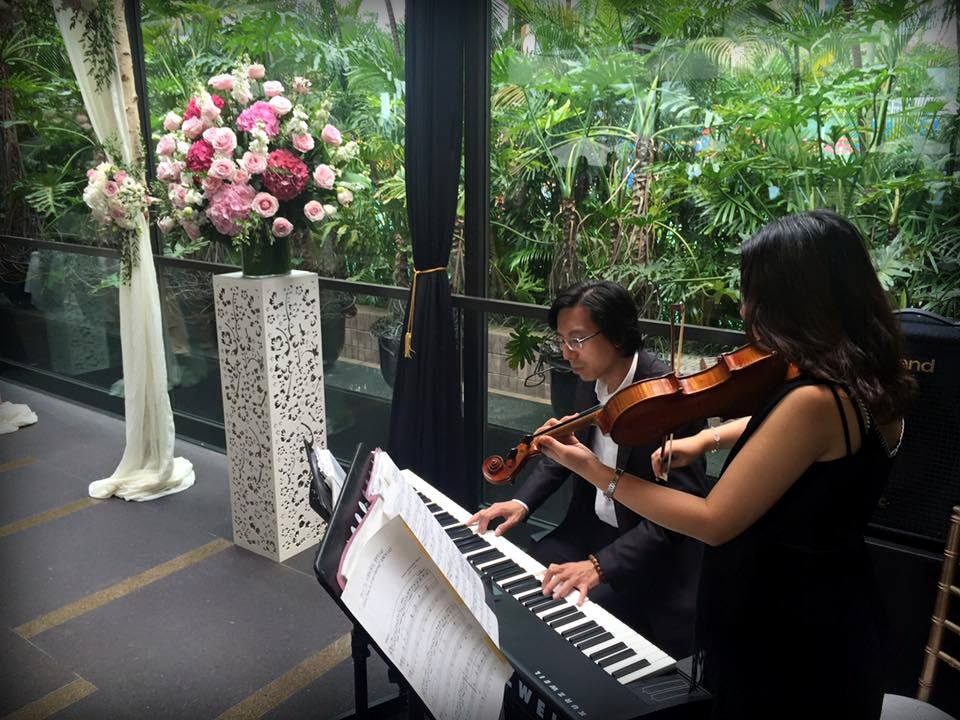 Unison Production Live Music band performance - Wedding ceremony in Grand Hyatt Pool House (Oct16)
