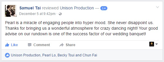 Unison Production - Testimonial (Samuel Tai)