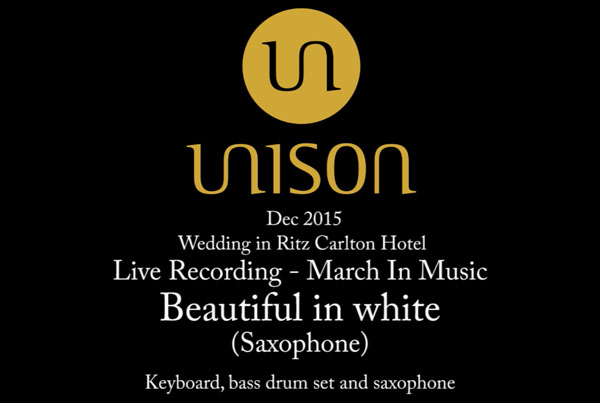 Beautiful in white(Saxophone) – Live Recording March In Music
